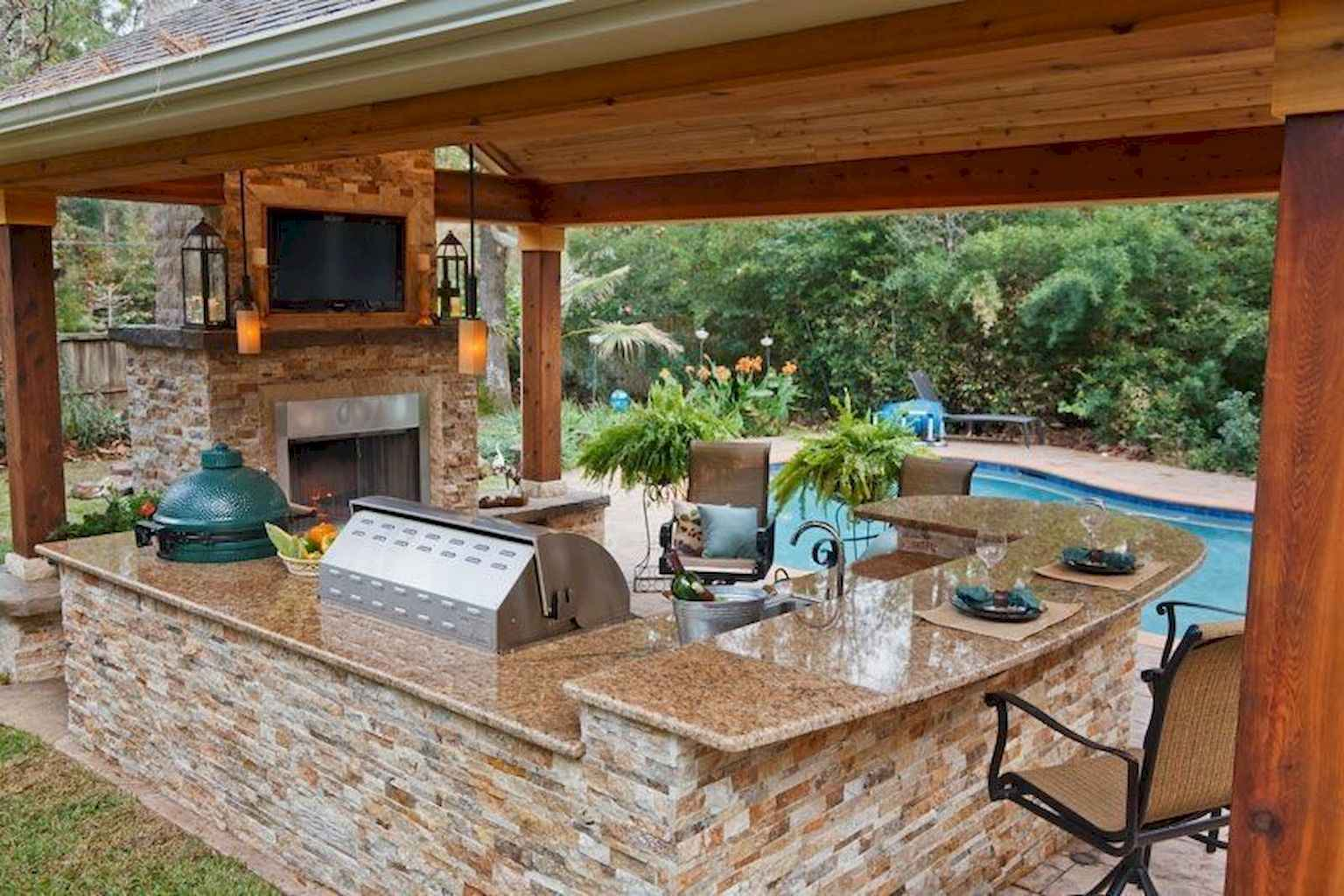 69 Amazing Outdoor Kitchen Design for Your Summer Ideas